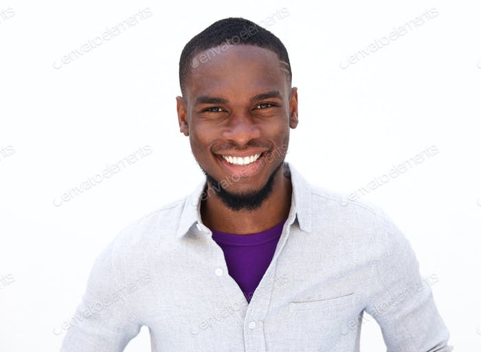 Handsome young african american guy