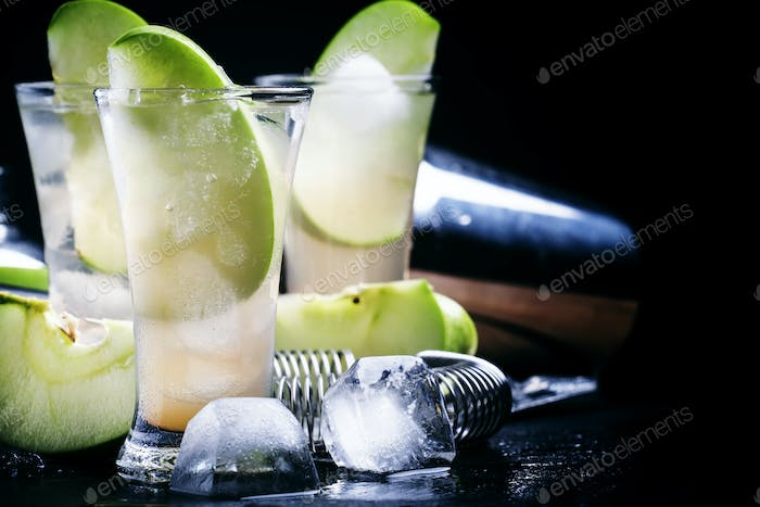 Apple cocktail with rum and juice