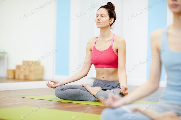 Beautiful Woman Enjoying Yoga