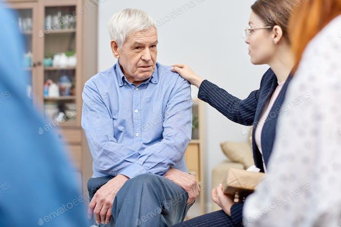 Comforting Senior Patient