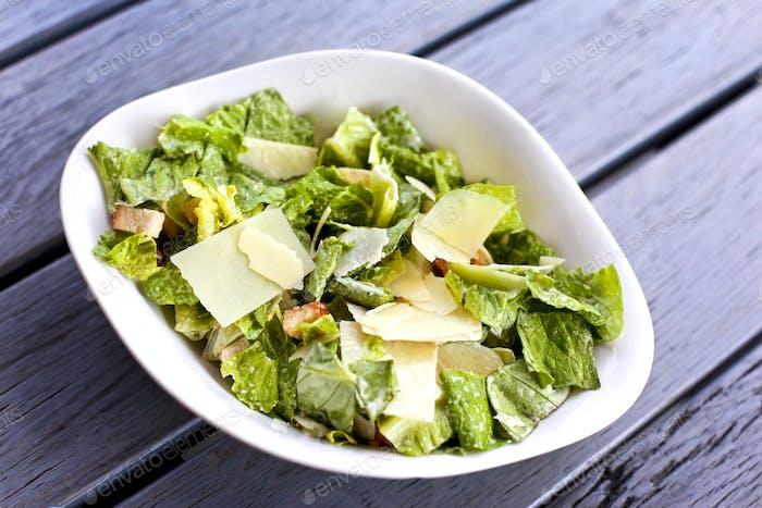 Italian mixed salad on a plate