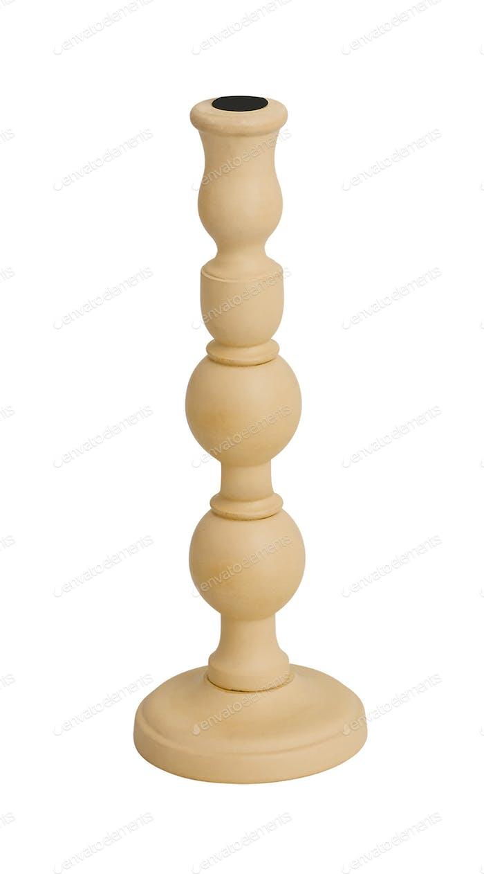 modern candleholder isolated on white background