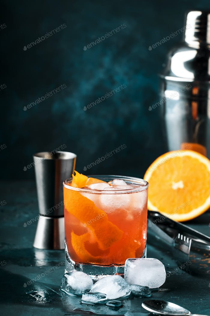 Orange Alkohol Cocktail