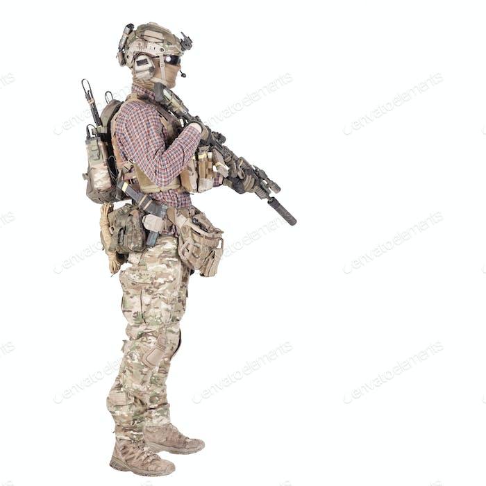 Airsoft Spieler Zieldienst Gewehr Studio schießen