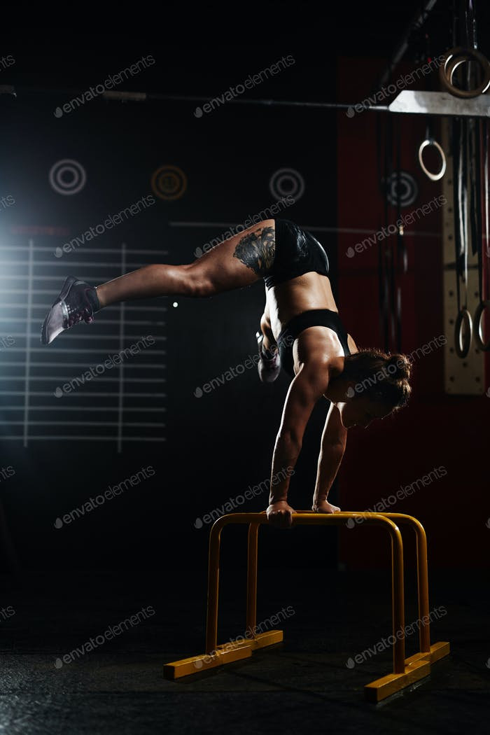Handstand on the rails