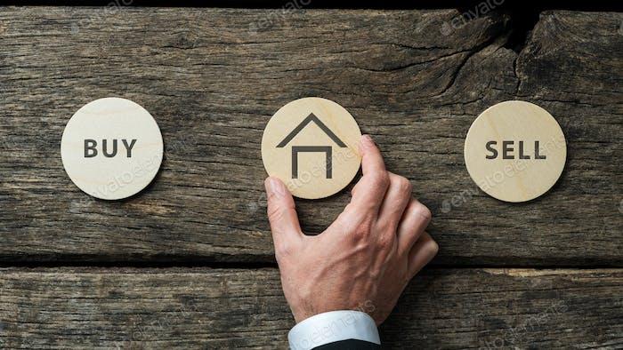 Konzeptionelles Bild des Immobilienmarktes