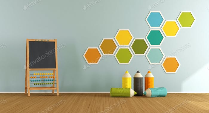 Thumbnail for Colorful playroom with blackboard