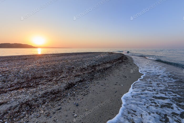 sunrise in Possidi beach, Greece