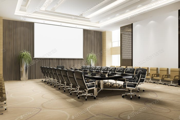 3d rendering seminar meeting room