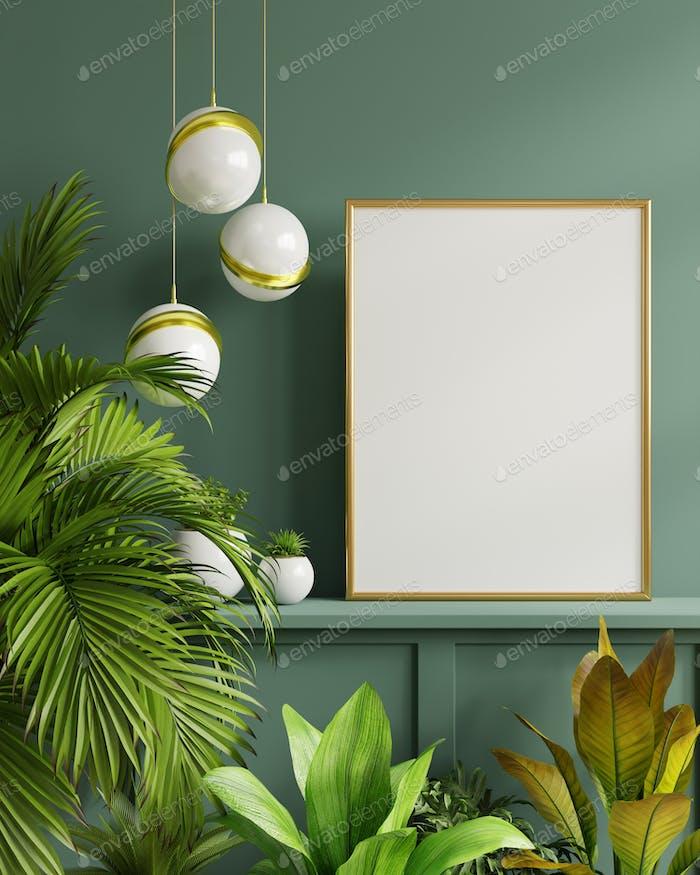 Mockup photo frame.