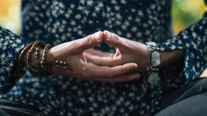 Dhyana Mudra, used in Meditation for Self-Healing and Improving Concentration.