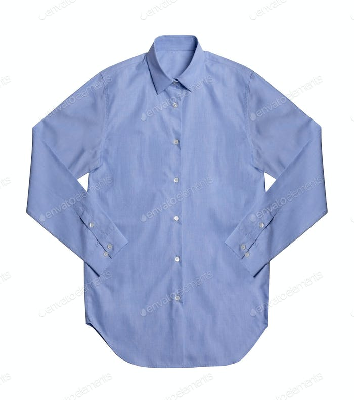 Blue shirt isolated on white background