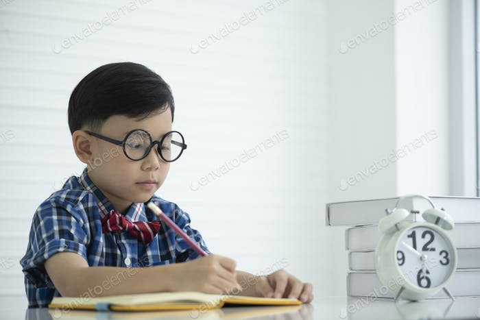 smart boy, education concept