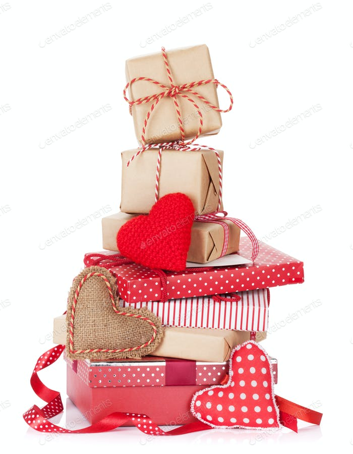 Christmas and Valentines day gift boxes