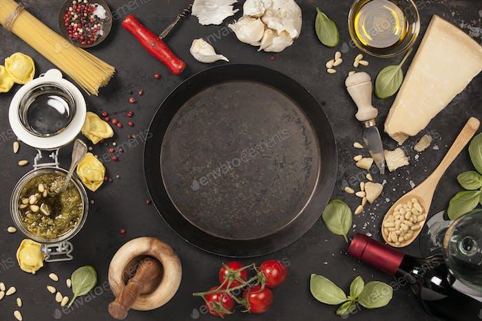 italienisches Essen Hintergrund