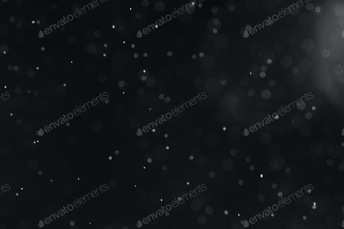Silver bokeh defocus dark abstract background