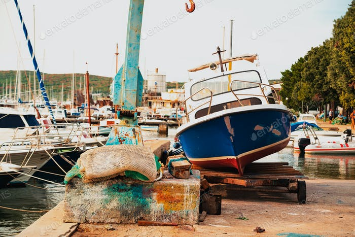 Fishing boat on harbor