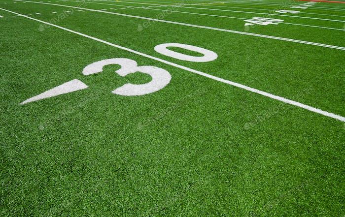 thirty yard line - football