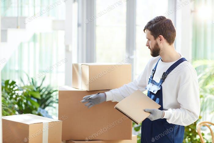 Manager-Prüfung von Paketen verschieben