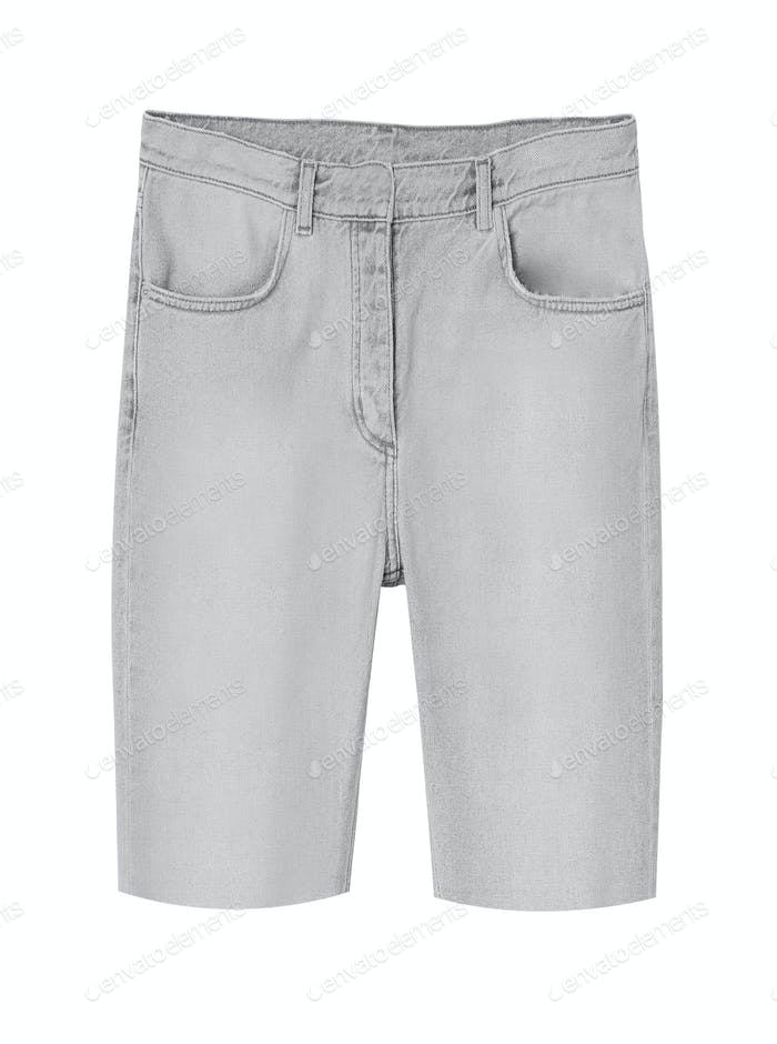 jeans shorts isolated