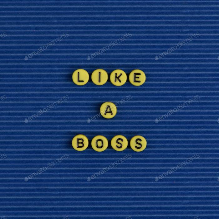 Like a boss word beads alphabet