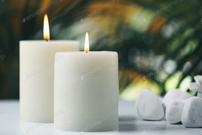 Scented White Vanilla Candles