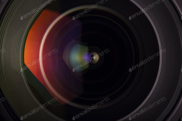 front glass of wide angle lens