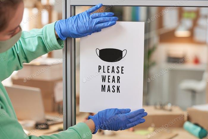 Please wear mask