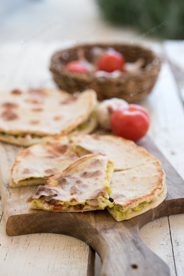 Filed flatbreads