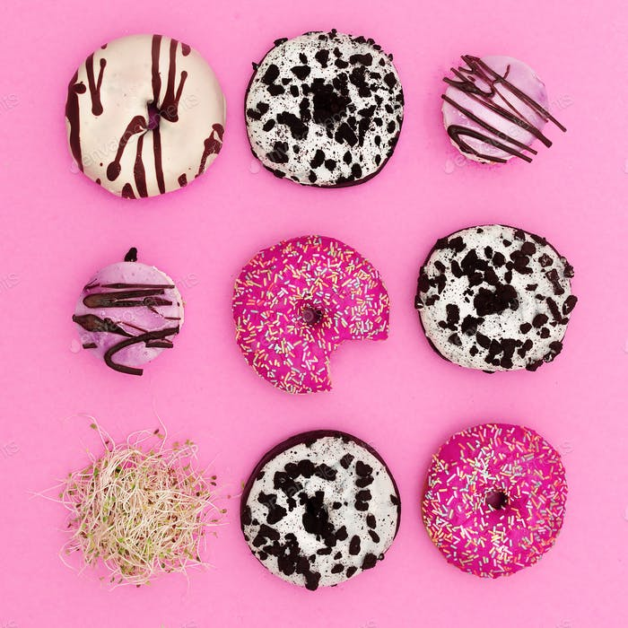 Mix donuts. And Sprouts. Fashion Fast Food minimal art Surreal C