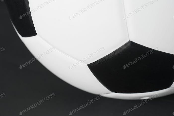 Primer plano del fútbol
