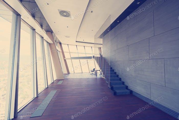 modern bright empty interior
