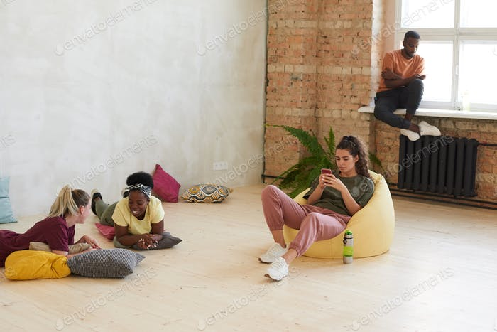Young people chilling out