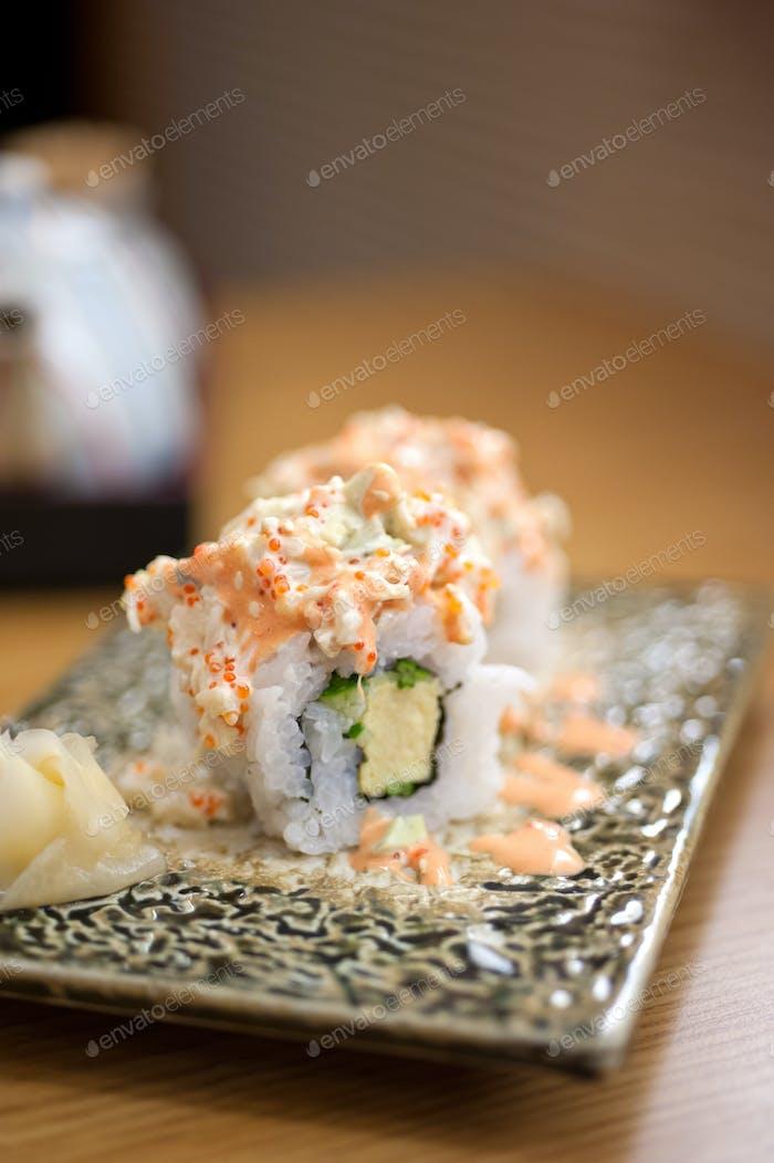 Japanese style maki sushi