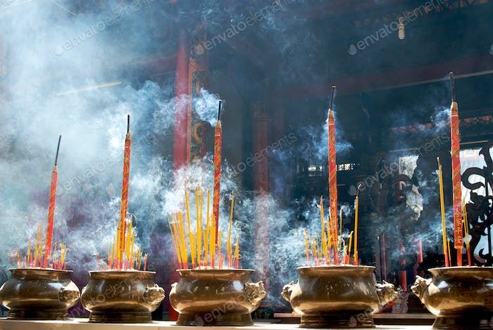 Incense sticks in pagoda