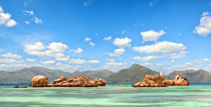 Seychelles Islands panorama
