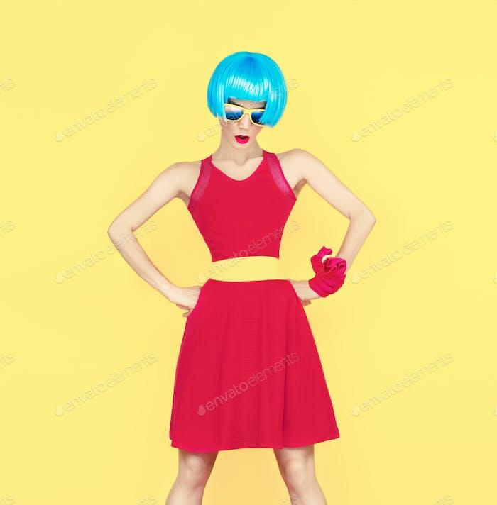 Bright portrait of a glamorous fashion lady