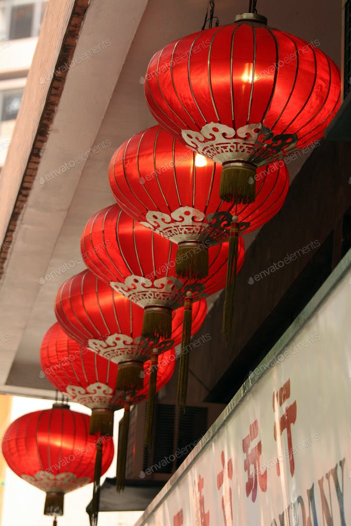 Chinese Lanterns - Hong Kong City, Asia