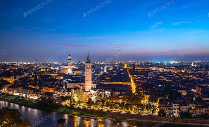 View of night Verona