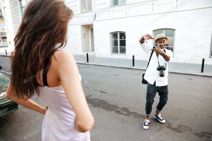Photo session on the street