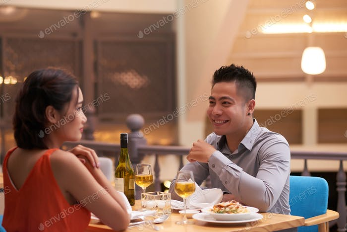 Celebrating Anniversary in Luxurious Restaurant