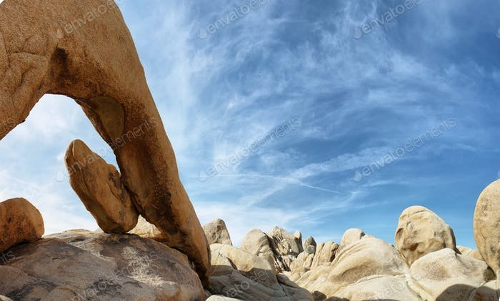 Arch rock in Joshua Tree national park