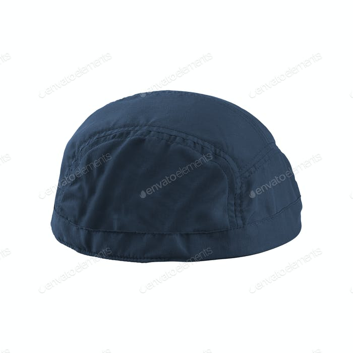 A blue hat is on white background
