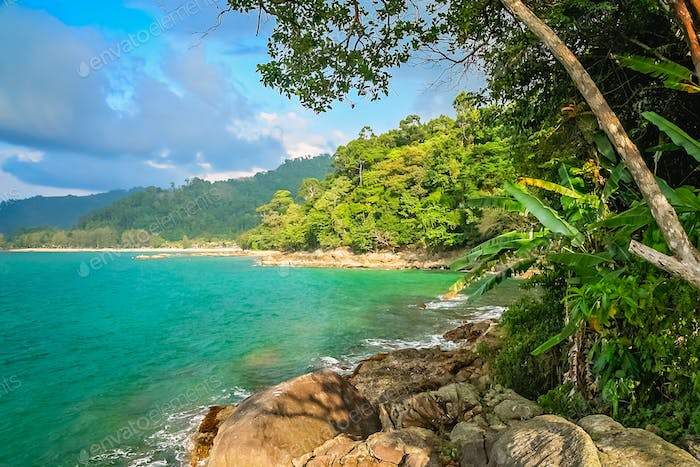 Beautiful thai coastal landscape