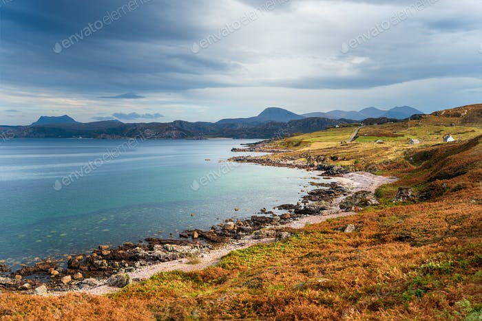 The beach ar First Coast, a small village in Wester Ross in the