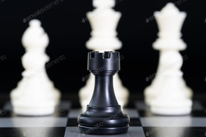 Chess pieces on chessboard-3
