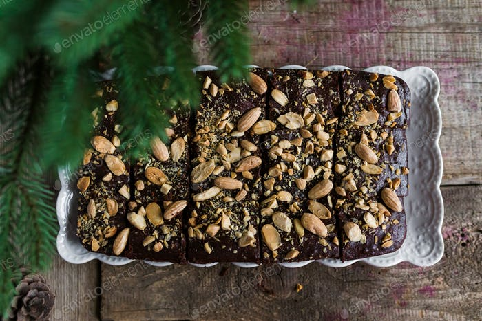 Brownies With Coffee And Almonds