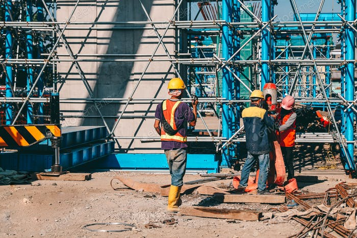 Group of worker at construction site