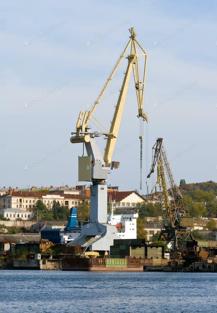 Harbour crane.