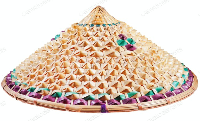 asian conical straw hat